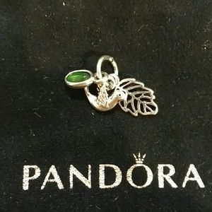 "Pandora's ""Forest Trinity, peridot"" Dangle Charm"